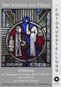 Einladung - Fotoausstellung - Drei Kirchen eine Pfarrei - web